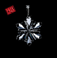 Crystal Large Annual Edition Christmas Gift Ornament Snowflake Holiday New 2020