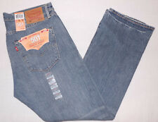 NEW LEVI'S 501 MEN'S STRAIGHT LEG BUTTON-FLY JEANS 36X30 BLUE W36L30 #005012256