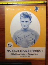 1935 Philadelphia Eagles vs Chicago Bears NFL Football Program Jim Leonard Cover