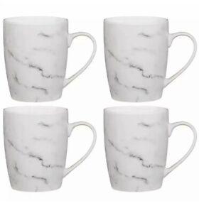 Set of 4 Marble Effect Tea Coffee Mugs Cups Kitchenware Mug Gift Hot Drink