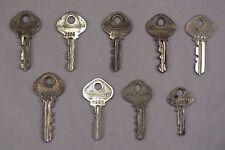 Vintage Slaymaker / Reese Numbered Padlock Lock Keys Steampunk Lot Of 9 Set 1