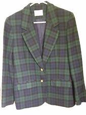 Womens Vintage PENDLETON Tartan Plaid Virgin Wool Blazer Jacket Made in USA