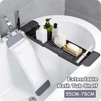 Extendable Bathtub Caddy Bath Tub Shelf Rack Tray Bathroom Holder Organiser