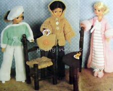 VINTAGE KNITTING PATTERN TO MAKE SINDY BARBIE DOLL CLOTHES 8 ITEMS