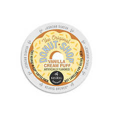 NEW Donut Shop Vanilla Creme Puff 18 Count K Cup Aroma Taste Medium Roast Flavor