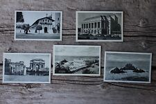 Five Antique High Gloss Print San Francisco California Unused Photo Postcards