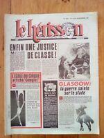 LE HERISSON n°1856 - 1981 -  Glasgow - Ecole du cirque - Humour - Badinter