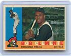 1960 TOPPS #326 BOB (ROBERTO) CLEMENTE BASEBALL CARD, PITTSBURGH PIRATES, HOF