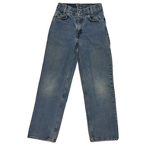 Vintage Boys Levis 550 Denim Jeans Relaxed Fit Regular 12 24x26
