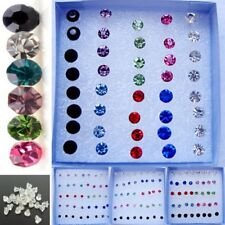 2018 20Pairs/1Box Mixed Color Women/Girls Rhinestone Plastic Earring Stud Party