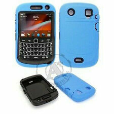 For Blackberry Bold 9930 9900 IMPACT RESISTANT Rubberized Phone Cover Blue Black