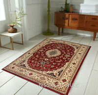CLASSIC HERITAGE FLORAL TRADITIONAL PERSIAN RED SMALL XLARGE CARVED RUNNER RUG