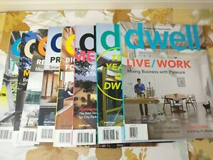 8 Dwell Magazine Back Issues Lot 2010 Incomplete Year Modern Home Decorating