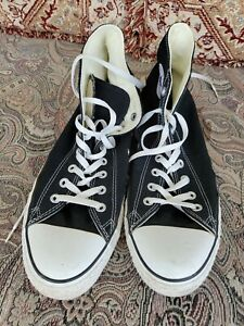 Converse All-Star Chuck Taylor Black High Top Sneakers Size Men's 10 Women's 14