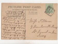 Rochester Squared Circle Postmark Kent 6 Feb 1907 441b