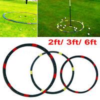 2/3/6ft Portable Golf Target Circle Game Swing Training Aid Practice