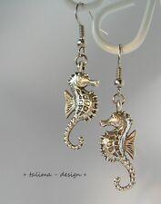Ohrringe Seepferdchen silber Maritim Meer   ***handmade***