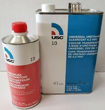 Urethane high gloss USC 10-1 gallon clear coat kit with 13-4 medium hardner