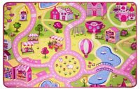 Children's Girls Funfair Floor Mat Carpet Bedroom Playroom Kids Play Fun Rugs