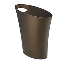 Skinny Sleek & Stylish Bathroom Trash Small Garbage Can Wastebasket Bronze