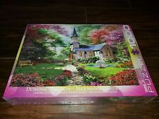New BLOOMING GARDEN Church Dominic Davison EUROGRAPHICS 1000 Piece PUZZLE