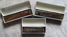 Set Of 3 Unopened Harmonicas, Their Brand Names are Parrot, Hero And Bluesband