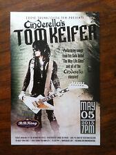 Cinderella's Tom Keifer ad/flyer B.B. King club concert Saxon Nyc