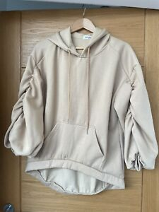 Hoodie With Ruched Sleeves.  Size S/M.