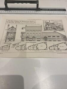 Antique Architect Plate Coffee Palace Kensal Green Building News 1880