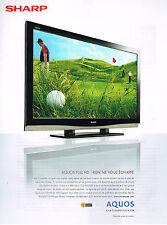 PUBLICITE ADVERTISING  2007   SHARP    AQUOS FULL D   téléviseur