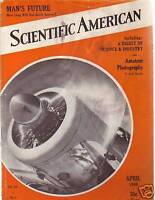 1940 Scientific American April-Model Railroads; Stars
