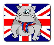 Startled Bulldog Mouse Mat - Union Jack Flag