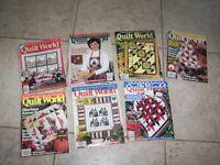 7 Vintage Quilt World Magazines - 1996 - 2000