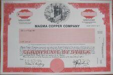 Specimen Stock Certificate - 'The Magma Copper Company'