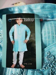 Boys Indian Sherwani Kurta Pyjama wedding Fancy Dress Party Wear Shalwar Kameez