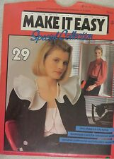 MAKE IT EASY  SEWING PATTERN NO.29 LADIES SPECIAL COLLECTION SIZES 8 - 16