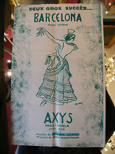 Partition Barcelona Axys Jean Adé Jean Kauffmann  Music Sheet