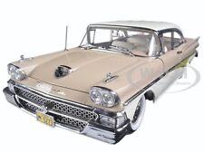 1958 FORD FAIRLANE 500 HARD TOP BEIGE/WHITE 1/18 PLATINUM SERIES BY SUNSTAR 5273