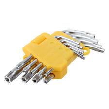 9pc T10-T50 Set Offset Star Key Safety Anti Tamper Torx Bit Allen Wrench L-Shape