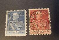 """ITALIA, ITALY REGNO 1925-26 """"Giubileo del RE"""" 2 Valori USED d.11 ss.189/190"""