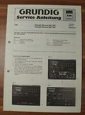 CBS40 CBS41 Triumph Record 480TRC 580TRC Grundig Service Manual Serviceanleitung