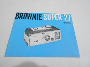 1950s/1960s CAMERA manual #13 - BROWNIE SUPER 27