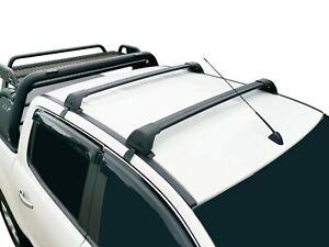 Alloy Roof Rack Cross Bar for Nissan Navara D23 NP300 2015-20 Black