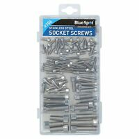 Metric Stainless Steel Allen Hex Cap Bolt Set Screw M4 - M10 106pc Assortment