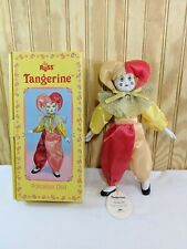 "Vintage 12"" Russ Tangerine Porcelain Doll Jester Clown Rare Original Box & Tags"