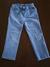 Mini Boden girls 11 years blue white polka dot capri pants