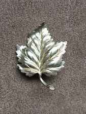 Gorgeous Vintage Signed Taylord 12K Gold Filled Leaf Pin Brooch