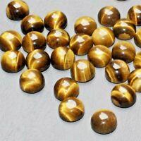 Wholesale Lot 5mm Round Cabochon Natural Tiger's Eye Loose Calibrated Gemstone