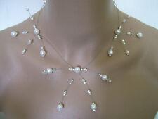 Collier Blanc/Cristal pr robe de Mariée/Mariage/Soirée/Cérémonie Perle Original