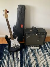 Fender Strat MIJ S Serial Squire Foto Flame And Fender Stage 1000 Amp